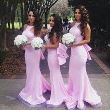fitted bridesmaid dresses bridesmaid dresses fitted mermaid neck halter backless