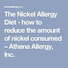 nickel allergy testing 38 best nickel allergy images on allergies food
