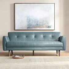 teal blue leather sofa digio adda 80