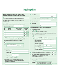 medicare claim form attached documentation print print text onto