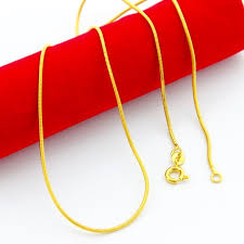 man necklace store images 1 2mm 45cm gold color thin snake chains necklace for men jewelry jpg