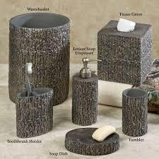 wildlife bathroom decor bathroom decor home bath bath accessories tree bark rustic bath accessories in sizing 2000 x 2000