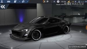 subaru brz all black black subaru brz need for speed no limits youtube