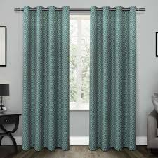 Teal Window Curtains Teal Window Treatments The Home Depot