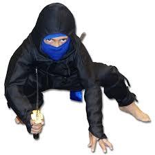 Ninja Costumes Halloween Black Ice Ninja Costume Kids Ninja Uniform Black Blue