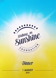 sunshine invitation 2015 walking on sunshine gala dinner walking on sunshine foundation