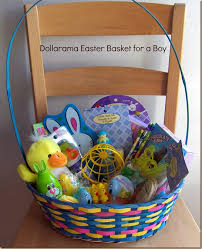 easter basket boy put together a fantastic easter basket for kids at dollarama for