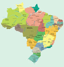 map of brazil map of brazil brasil states and state capitals