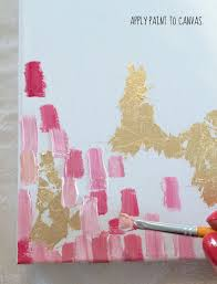 how to make diy gold leaf abstract art love this crafts