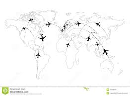 Airline Routes Map by Airline Routes On Map Infographic Stock Vector Image 47954743