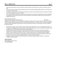 Transportation Manager Resume Bill Briscoe Operations Transportation Management Resume