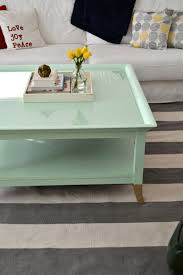 Painting Coffee Tables Mint Coffee Table With Gold Feet A Makeover Little Bits Of