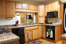 Mixed Kitchen Cabinets Kitchen Room Furniture U Shaped Single Door Pantry For Black