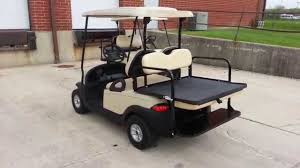 club car club car precedent golf cart from michigan with rear flip seat