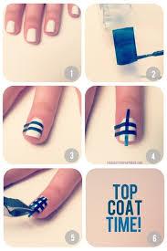 nail polish and tape polish nails art
