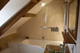 Bathroom Ceilings Ideas Bathroom Attic Bathroom Design With White Sloping Ceiling And