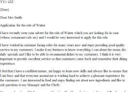cover letter for waiter waiter waitress cv example and template
