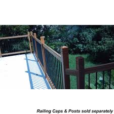 railsimple wood railing kits traditional series cedar straight