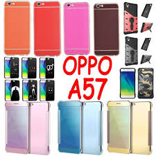 Oppo A57 Qoo10 Oppo A57 Cover Tempered Glass Screen Protector Flip
