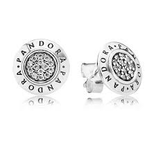 silver stud earrings uk pandora silver cubic zirconia signature stud earrings