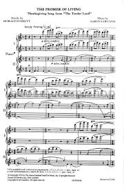 aaron copland promise of living