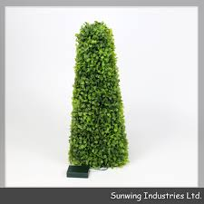 decorative outdoor cheap pvc artificial topairy trees for home