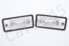 genuine license plate light lenses pair audi a3 a4 a5 a6 c6 a8 d3