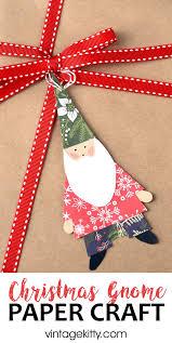 christmas gnome craft vintage kitty