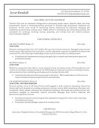 sample cook resume sample job interview career guide lead sample