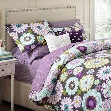 Teen Floral Bedding Madison Floral Duvet Cover Full Queen White Gray Pbteen