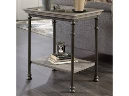 sauder coffee and end tables sauder canal street 419229 side table with metal frame and tray edge