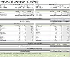 bi weekly budget template templates docs
