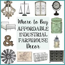 where to buy affordable industrial farmhouse decor industrial