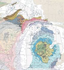 A Map Of Michigan by Geologic Maps Of The 50 United States