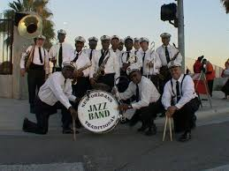 mardi gras parade new orleans traditional jazz band with lala