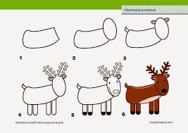 cara membuat poster untuk anak sd kerajinan anak cara menggambar rusa untuk anak sd kids