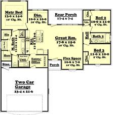 1500 sq ft plan 430 59 main floor kitchen eating u003d 11 u00272 x 12