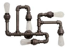 industrial pipe light fixture amazon com industrial lighting black pipe flush mount ceiling