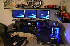 best desks for gaming setups good techsource green setup desk