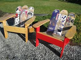 skateboard chairs buy hand made adirondack chair from repurposed skateboards made