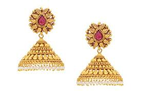 buy jhumka earrings online buy antique golden big jhumka online at low prices in india