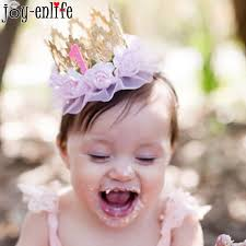 baby girl headband enlife 1pcs lace flower baby girl headband lace crown