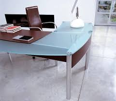 Home Office Glass Desks Office Desk Corner Computer Desk Glass Top Computer Desk With
