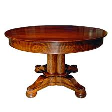 Antique Round Dining Tables Vintage Look Modern Expandable Round Pedestal Dining Table For