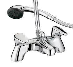bristan jute pillar mounted bath shower mixer ju pbsm c