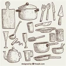 ustensile de cuisine vintage ustensile de cuisine vintage 3 ustensiles de cuisine croquis
