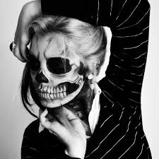 beautiful halloween black and white makeup images halloween