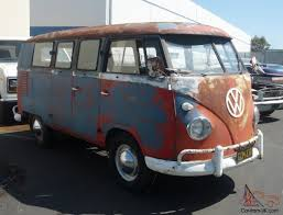 volkswagen van hippie 1960 volkswagen original paint double door camper van panel van