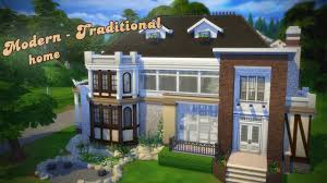 the sims 4 house building modern traditional villa youtube