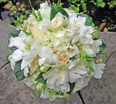 blue and white wedding bouquets bb0294 white rose hydrangea